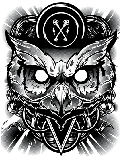 hydro74-illustration-graphic-design-art-poster-personal-owl